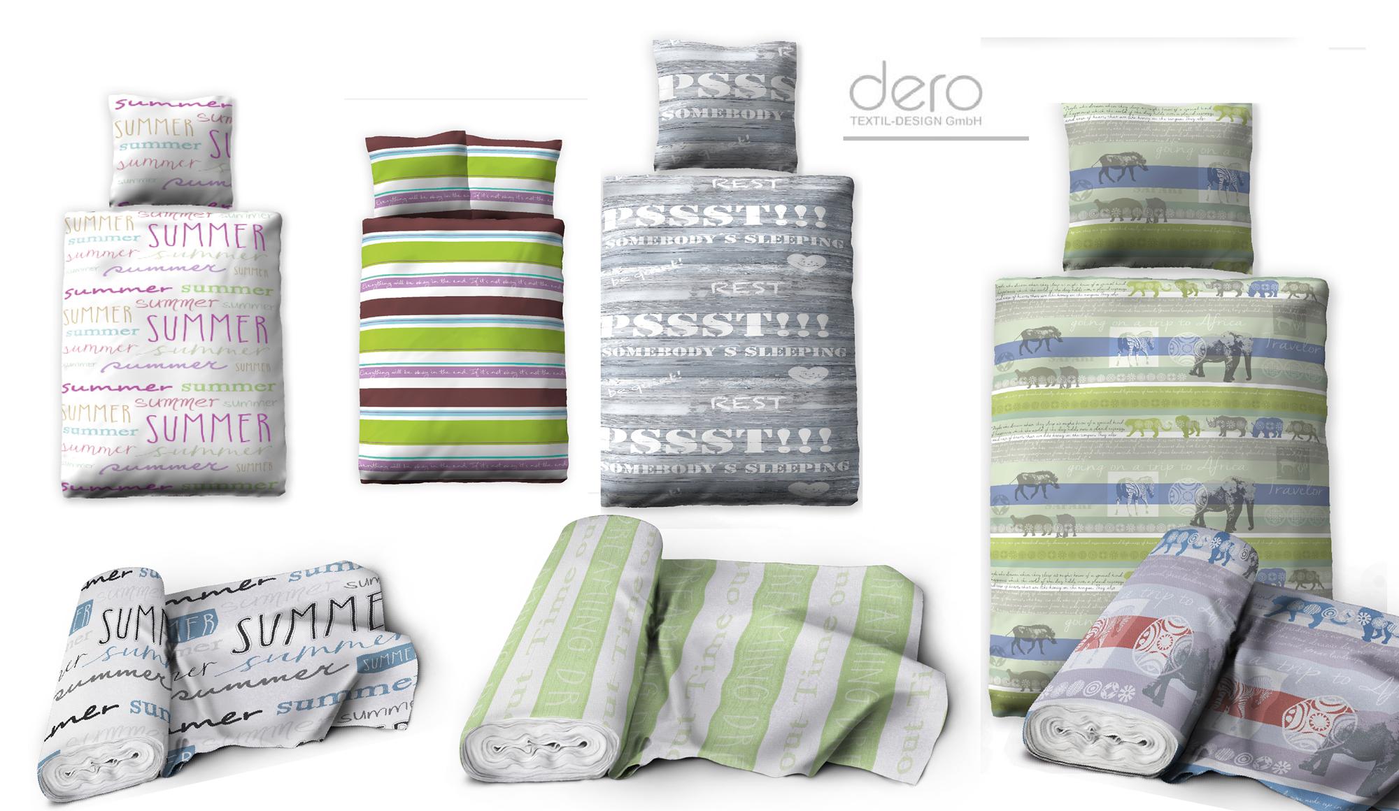 Bettwäsche Textildesign Dienstleistung